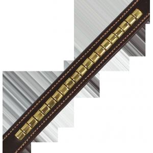 2179 Poprsník Napoli kožený s ozdobnými kovovými půlválečky Kentaur
